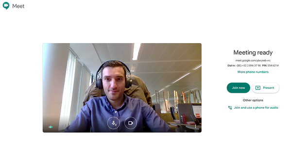 Agon Hangouts Meet Meeting Screenshot