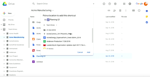 Drive announcements Next '19 G Suite