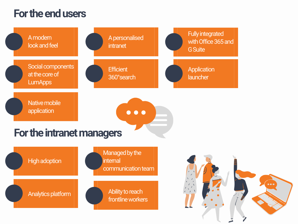 For the end users and for the intranet managers