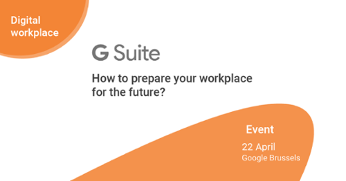 G Suite event 22/04 breakfast digital workplace