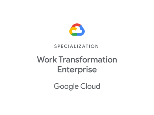 Google Cloud Works Transf Enterprise Specialization badge 2020