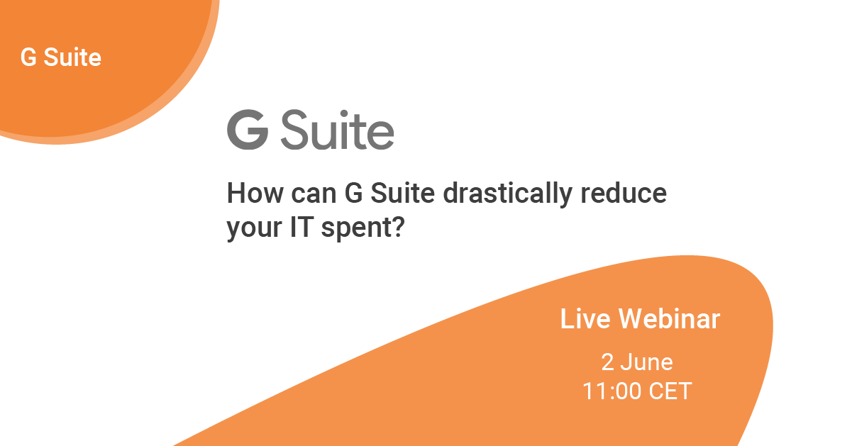 How can G Suite drastically reduce your IT spent?_LINKEDIN post