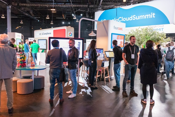Fourcast booth Google Cloud SUmmit 2018
