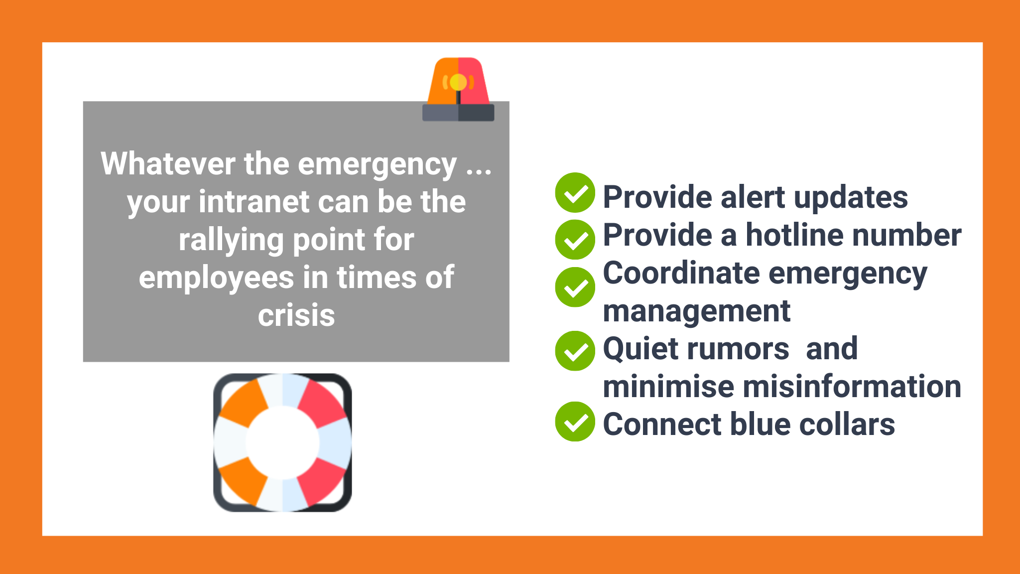 Intranet essentials for crisis communications