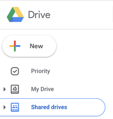 Shared folders in Shared Drives