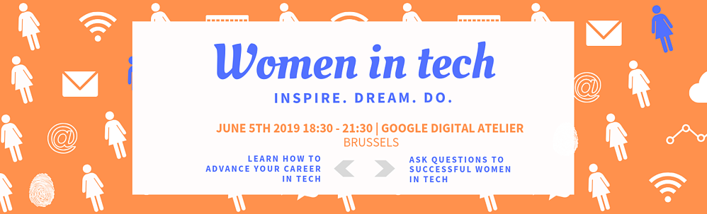 Women in tech Event 5 June Brussels banner