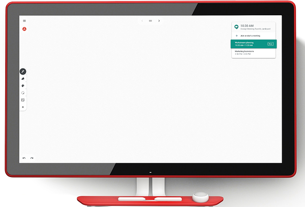 video conferencing on Jamboard