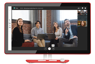 Video Conferencing on Google Jamboard
