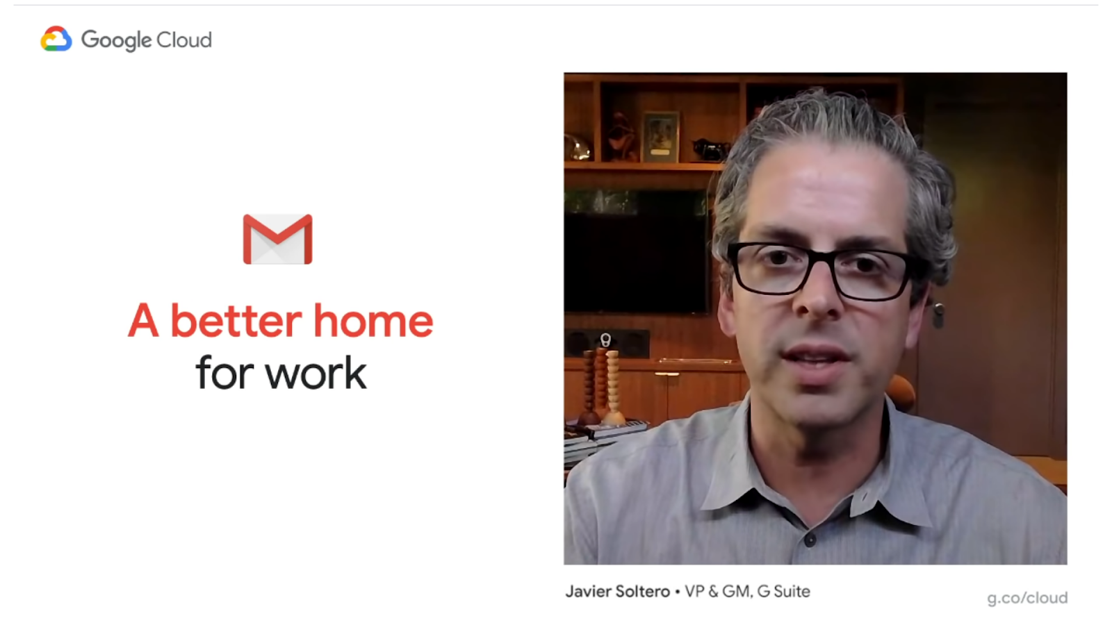 Javier Soltero, VP & GM of G Suite on Google Cloud Next OnAir