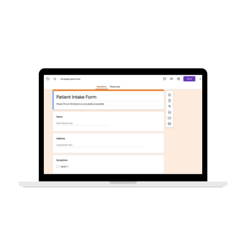 Patient Intake Forms with G Suite