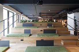 Wooden theatre Event space G Suite Luxembourg